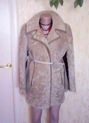Натуральная мутоновая шубка/шуба овчина/шуба/меховая шуба/полушубок/куртка /пуховик