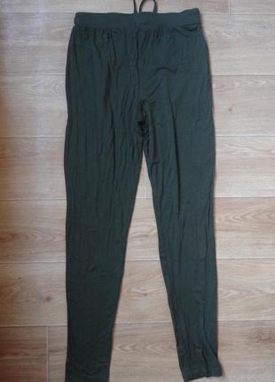Снизила цену новенькие трикотажные штаны темного зеленого цвета3 фото