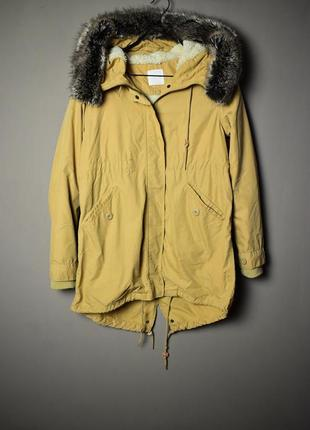Распродажа куртка парка бежевого цвета  lowrus farm