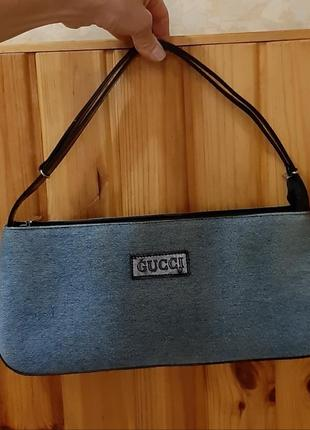 Джинсовая  эффектная сумочка