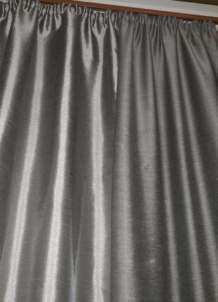 Шторы комбинированные серые