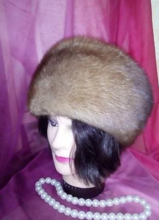 Роскошная норковая шапка/норковая шапка/берет/боярка/меховая шапка