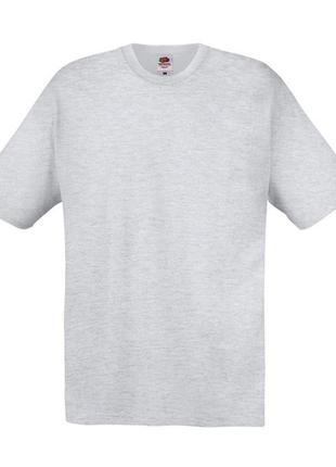 Базовая однотонная серая оверсайз футболка {100% хлопок/cotton}