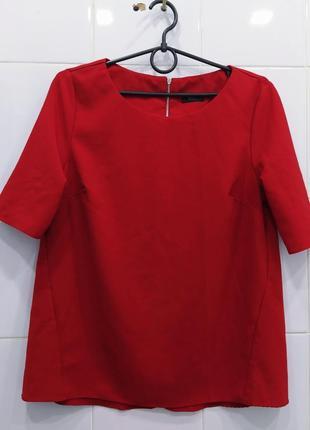 Стильная яркая блуза сзади с замочком
