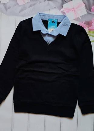 В наличии рубашка обманка школьная для мальчиков .
