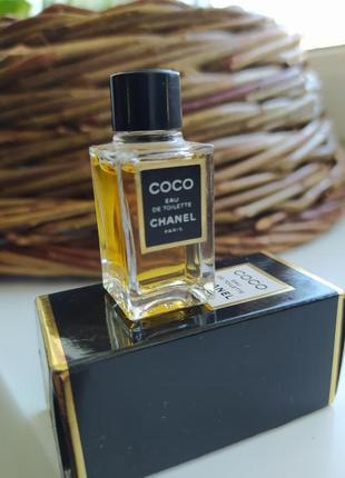 Coco chanel, винтажная миниатюра, туалетная вода, 4 мл