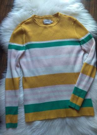Only/ джемпер/свитер/трикотажний светрик/кофта а полоску