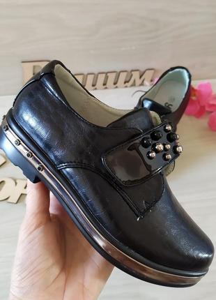 Стильные туфли лаковые