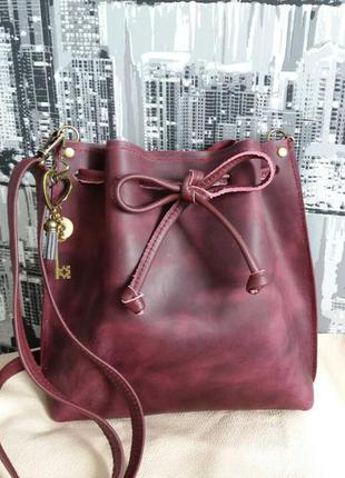 Новая кожаная сумка 30х25х6