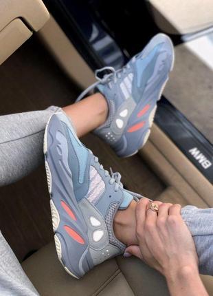 Кроссовки adidas yeezy 700 ocean blue код:a0034
