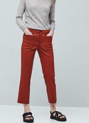 Укороченные брюки штаны mango