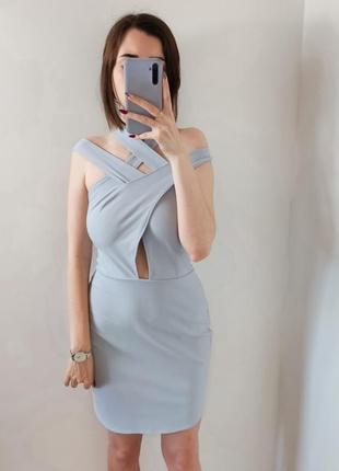 Голубое платье новое