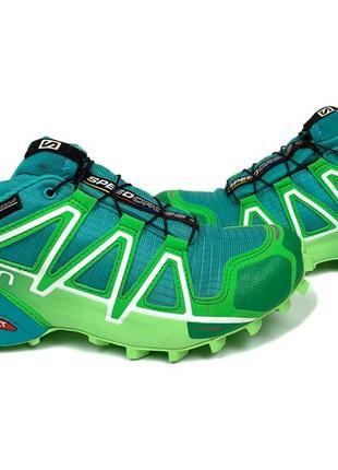Треккинговые кроссовки salomon speedcross 4 gtx w teal s383083