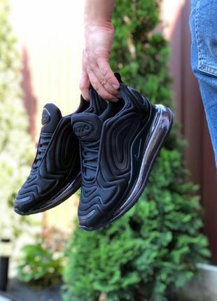 Мужские кроссовки nike air max 720 (чёрные)
