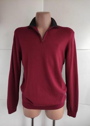 Шерстяной базовый свитер gap молнией на шее.