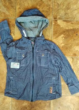 Утепленная джинсовая рубашка фирмы next.