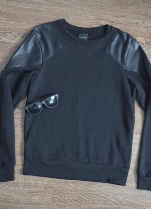 Свитшот стильный дизайн от zara ® leather man black