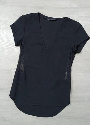 Блуза zara с кружевом