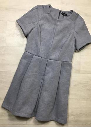 Плотное серое платье