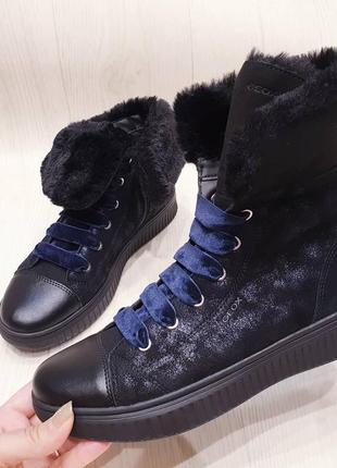 Geox -  кожаные деми ботинки для девочек - 33, 35