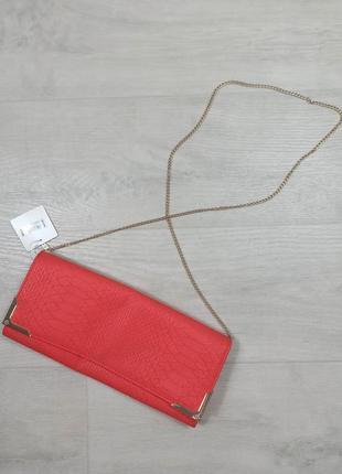 Красная сумочка клатч
