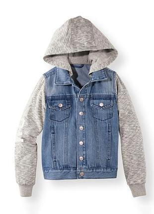Комбинированная утеплення джинсовая куртка для мальчика. германия.