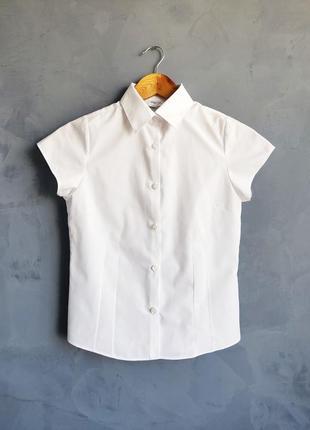 Детская белая рубашка marks & spencer