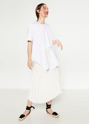 Chlee плиссерованая юбка плиссе длинная актуальная молочная легкая актуальная