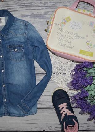 7 - 8 лет 128 см h&m очень модная фирменная джинсовая рубашка рубашечка