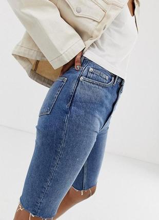 Just cavalli джинсовые шорты велосипедки по колено брендовые стильные 27 оригинал люкс
