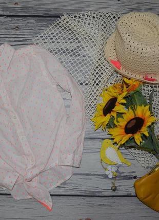 7 лет 122 см фирменная натуральная яркая рубашка блузка блуза для модницы