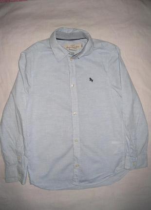 Однотонная рубашка с длинным рукавом в школу h&m