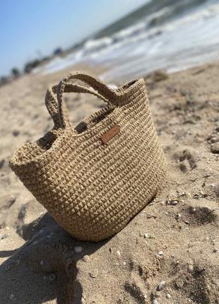 Пляжная сумка из джута ручная работа