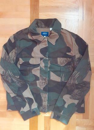 Куртка хаки коттон милитари
