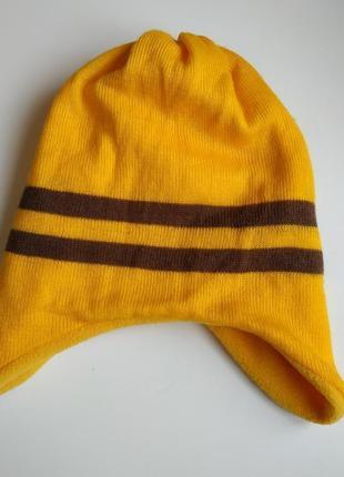 Теплая шапка на флисовой подкладке унисекс