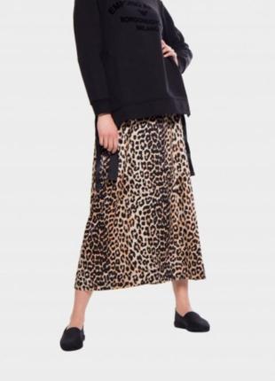 Леопардовая юбка гофре
