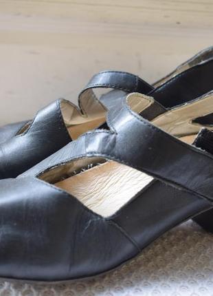 Кожаные туфли лодочки балетки риекер rieker р.39 25,5 см
