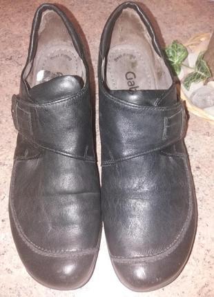 Полностью кожаные туфли закрытые gabor 5р (38,38,5)