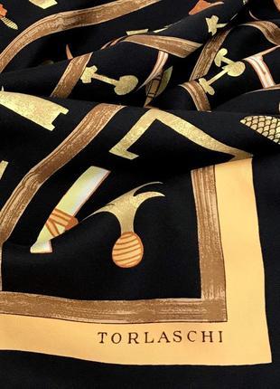 Редкий ♥️♥️♥️ подписной шелковый платок в египетском стиле torlaschi,роуль.