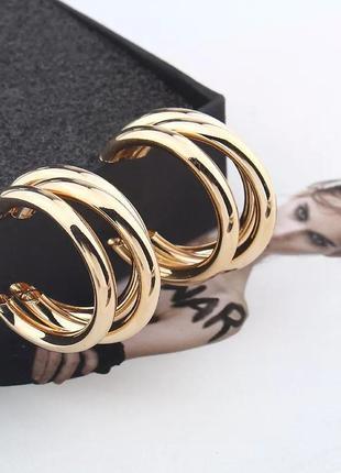 Серьги кульчики кольца