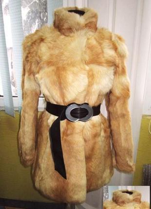 Шикарная женская натуральная лисья шуба. франция. лот 381