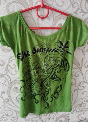 Супер летняя футболочка с открытой спиной