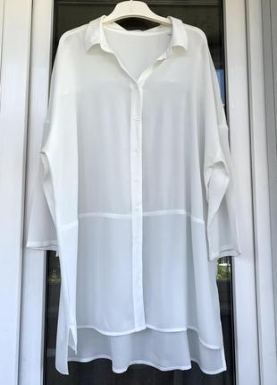 Opus удлиненная оверсайз рубашка из вискозы