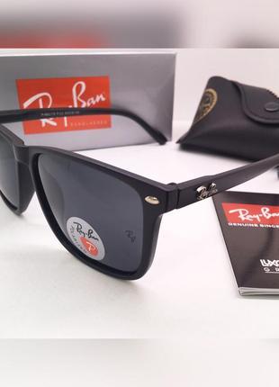 Стильные солнцезащитные очки матовая оправа ray ban линзы polarized