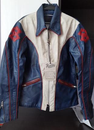 Replay кожаная куртка. оригинал. винтаж.