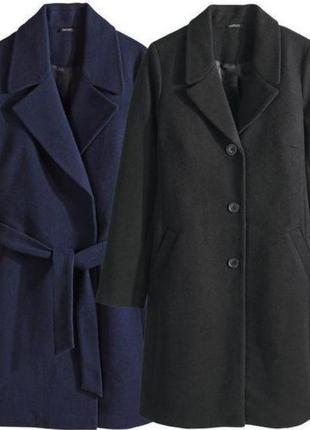 Классическое пальто прямого кроя premium esmara, евро 40