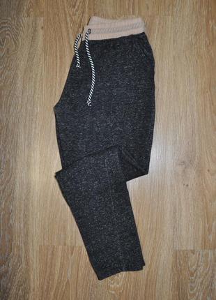 Спортивные штаны серый меланж