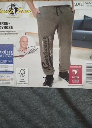 Батал! очень мягкие и комфортные спортивные штаны uncle sam, р. 3хl/64-66, есть замеры