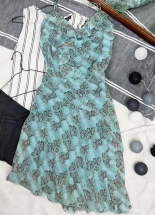 Платье на бретелях в актуальный принт george