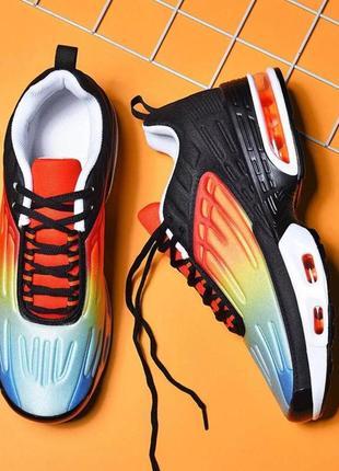 Яркие мужские кроссовки демисезонные беговые топ-качества